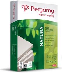 Pergamy Natura Recycled gerecycleerd kopieerpapier ft A4, 80 g, pak van 500 vel
