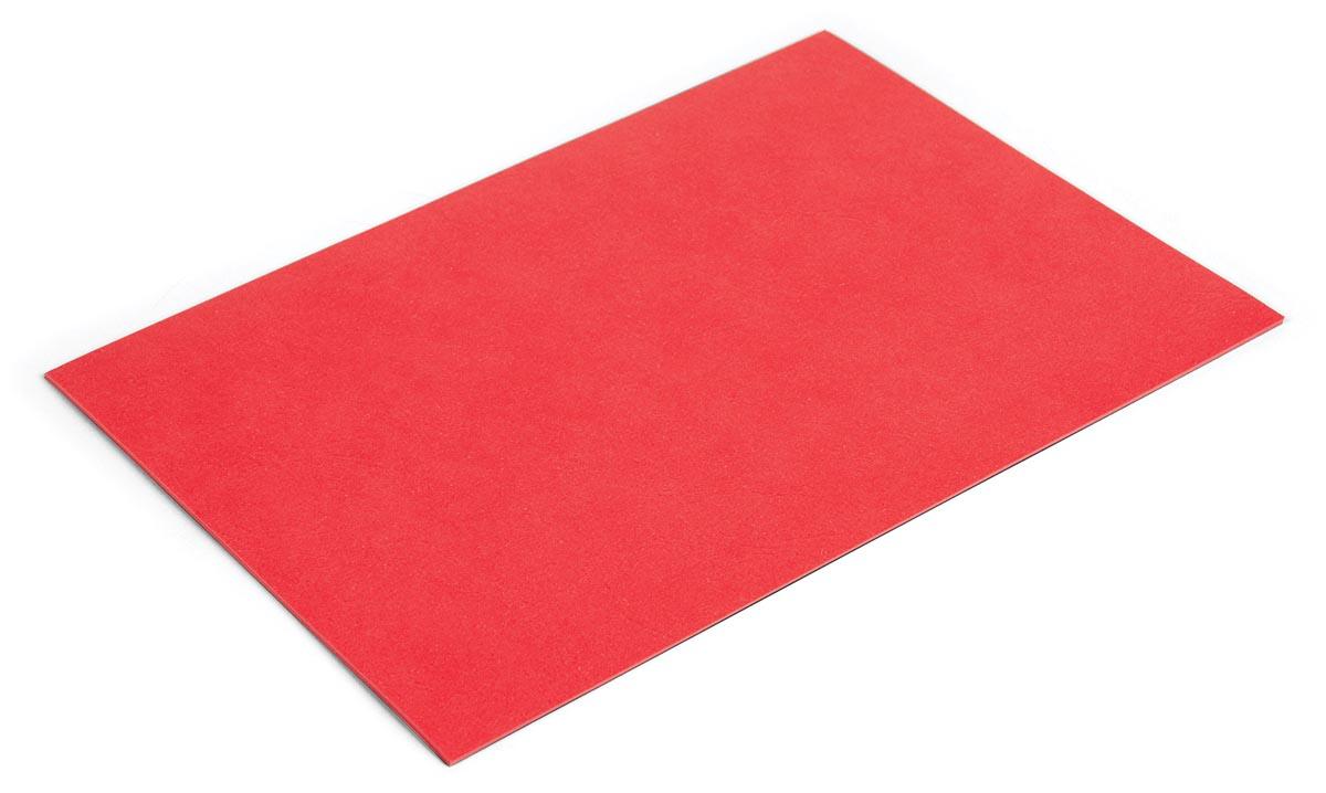 Pergamy omslagen lederlook ft A4, 250 micron, pak van 100 stuks, rood