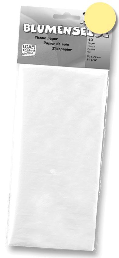 Folia zijdepapier citroengeel