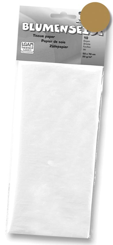 Folia zijdepapier donkergeel