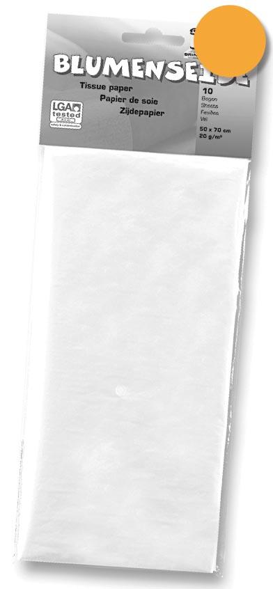 Folia zijdepapier lichtoranje