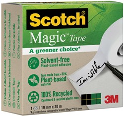 "Plakband Magic  Tape ""A greener choice"" ft 19 mm x 30 m, doos met 1 rolletje"