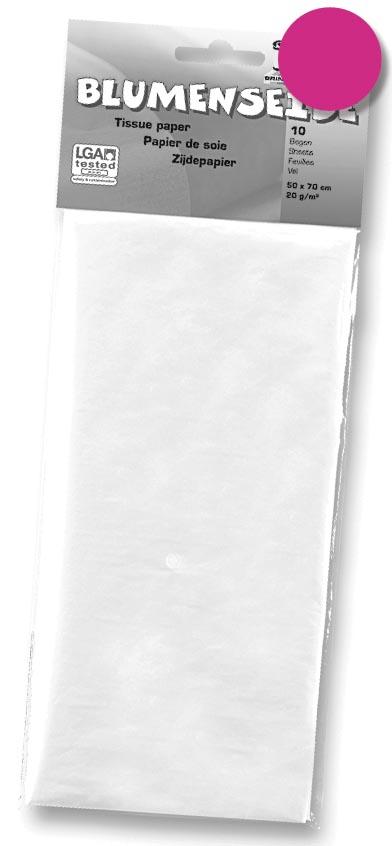 Folia zijdepapier fuchsia