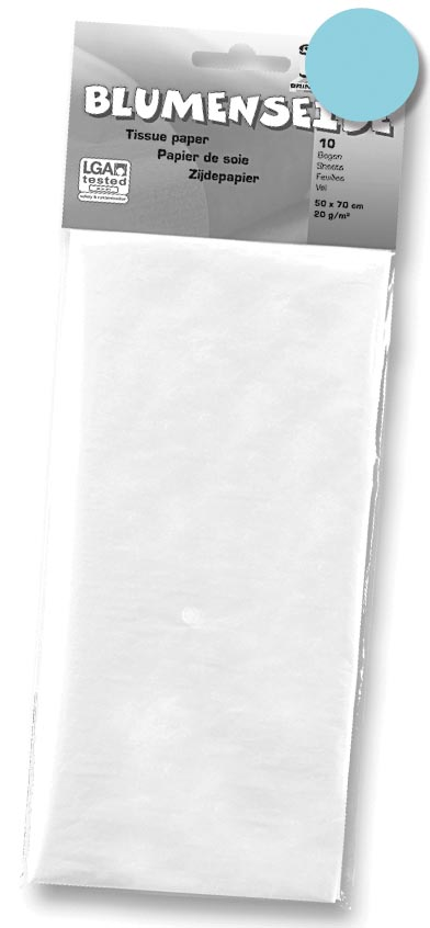 Folia zijdepapier lichtblauw
