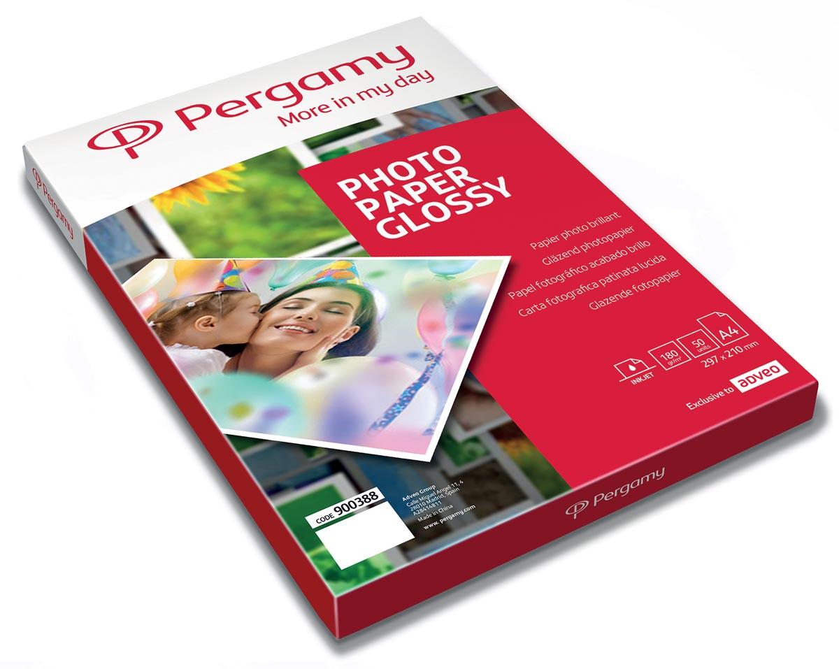 Pergamy fotopapier ft A4, 180 g, glanzend, pak van 50 vel