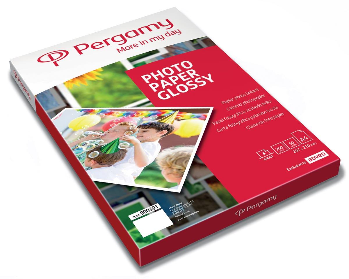 Pergamy fotopapier ft A4, 260 g, glanzend, pak van 50 vel