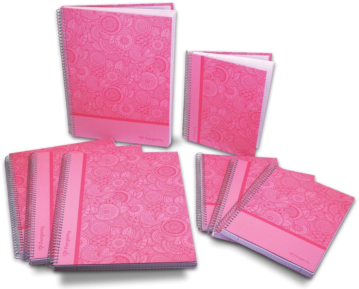 Pergamy Mandala notitieboek ft A4, geruit 5 mm, roze