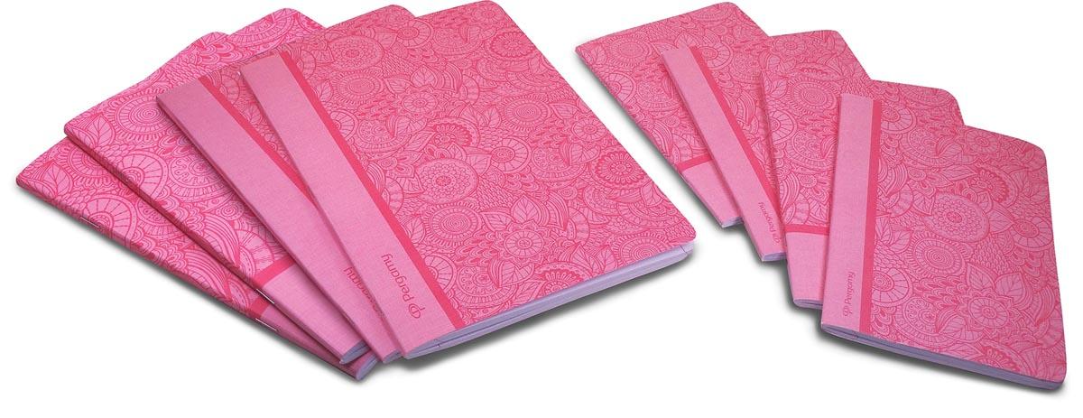 Pergamy Mandala schrift, ft A4, gelijnd, 48 bladzijden, roze
