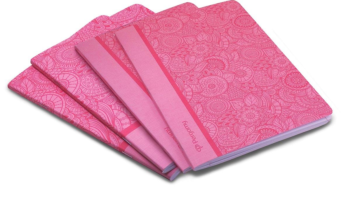 Pergamy Mandala schrift, ft A4, geruit 5 mm, 48 bladzijden, roze