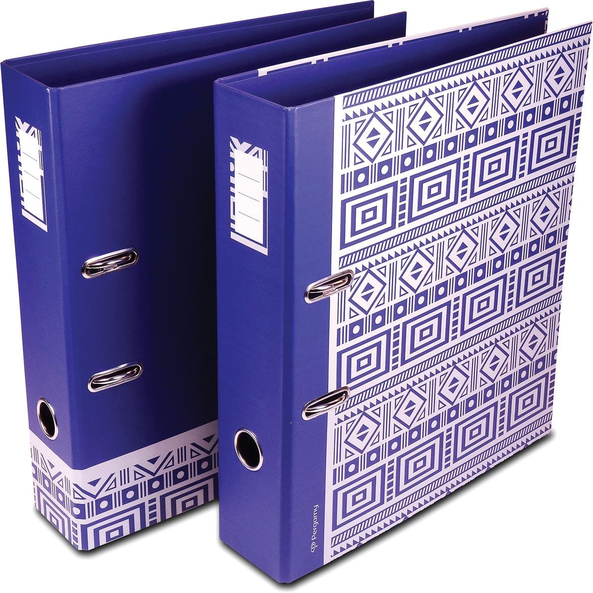 Pergamy Ethnic ordner ft A4, blauw