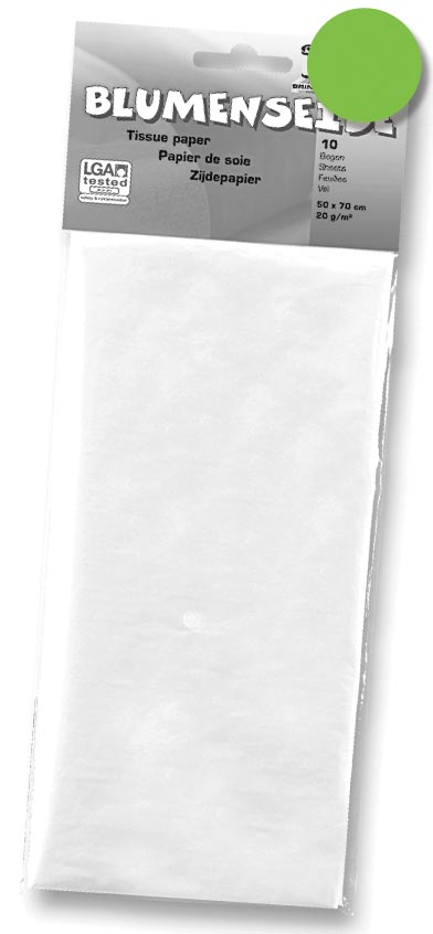 Folia zijdepapier lichtgroen