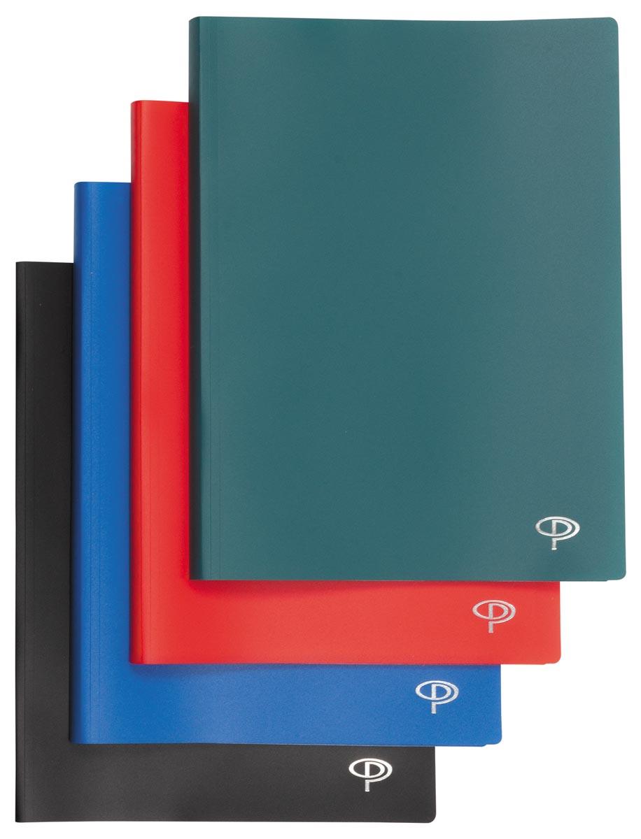 Pergamy showalbum, voor ft A4, met 60 transparante tassen, in geassorteerde kleuren