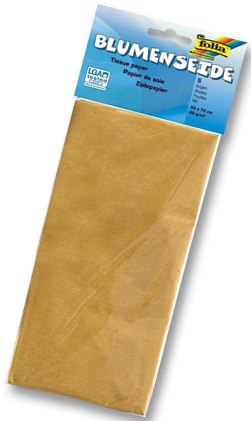 Folia zijdepapier goud
