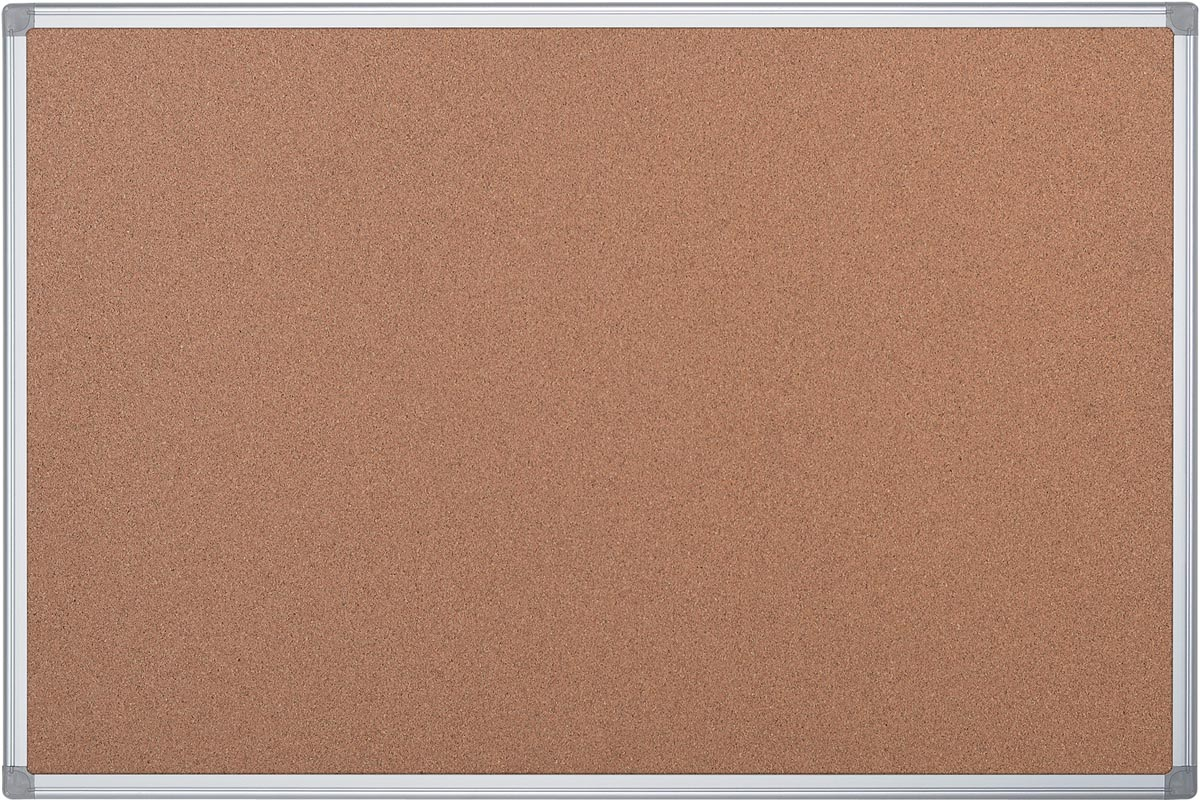 Pergamy kurkbord met aluminium frame ft 180 x 120 cm
