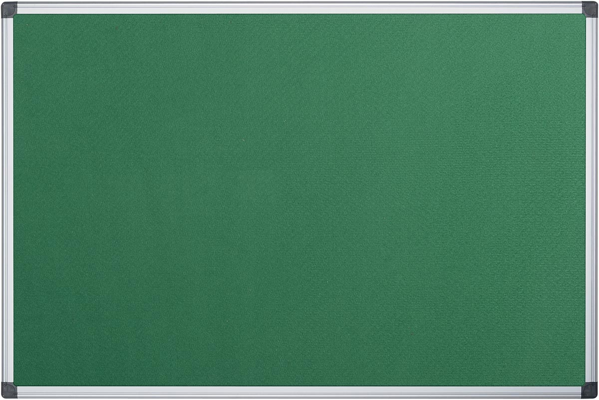 Pergamy textielbord met aluminium frame ft 60 x 90 cm, groen