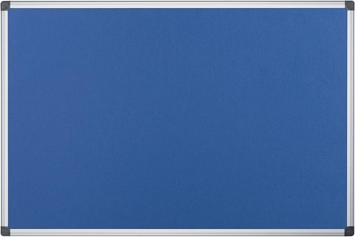 Pergamy textielbord met aluminium frame ft 90 x 120 cm, blauw