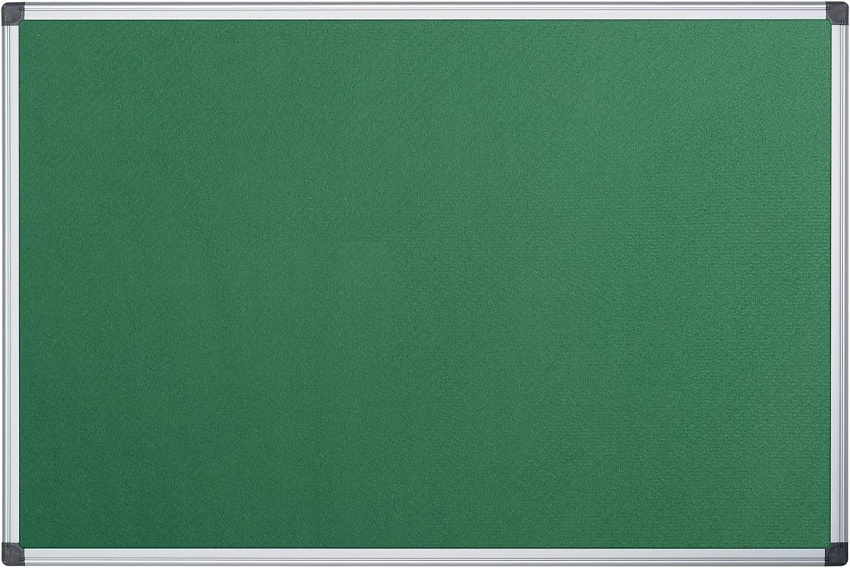 Pergamy textielbord met aluminium frame ft 90 x 120 cm, groen