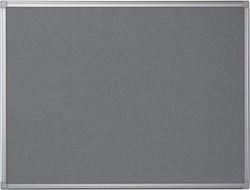 Pergamy textielbord met aluminium frame ft 90 x 120 cm, grijs