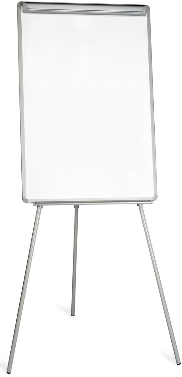Pergamy Essential niet-magnetische flipchart met papierklem ft 107 x75 cm
