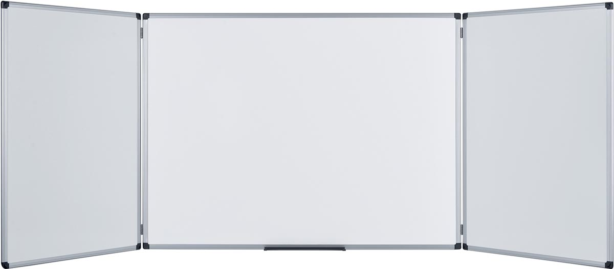 Pergamy Excellence emaille trio whiteboard ft 90 x 60 cm (gesloten)