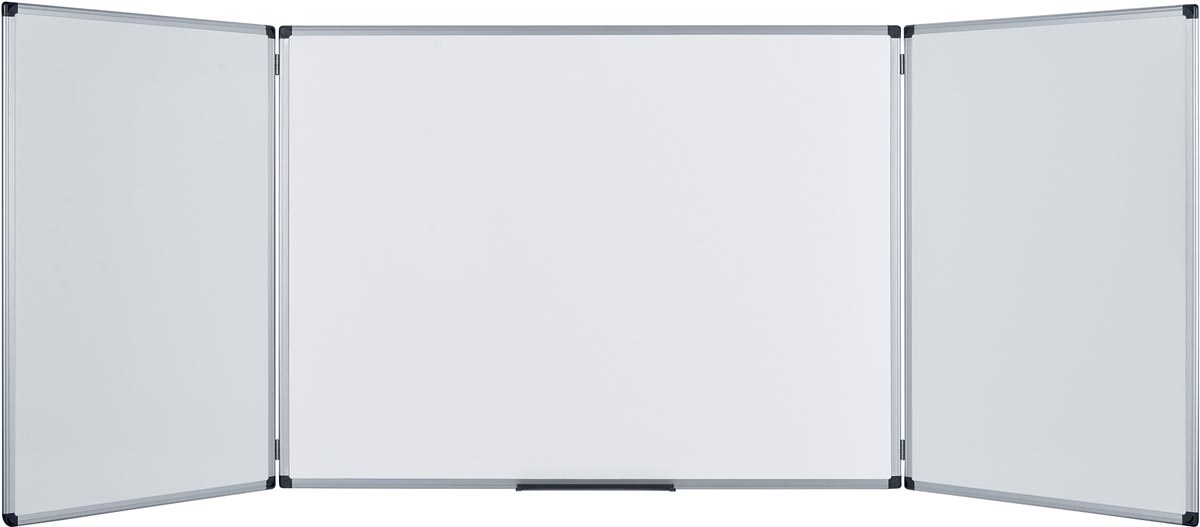 Pergamy Excellence emaille trio whiteboard ft 120 x 90 cm (gesloten)