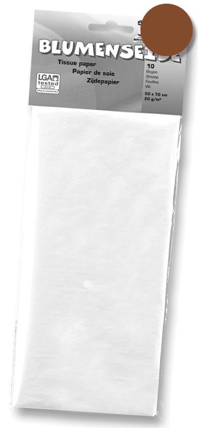 Folia zijdepapier bruin