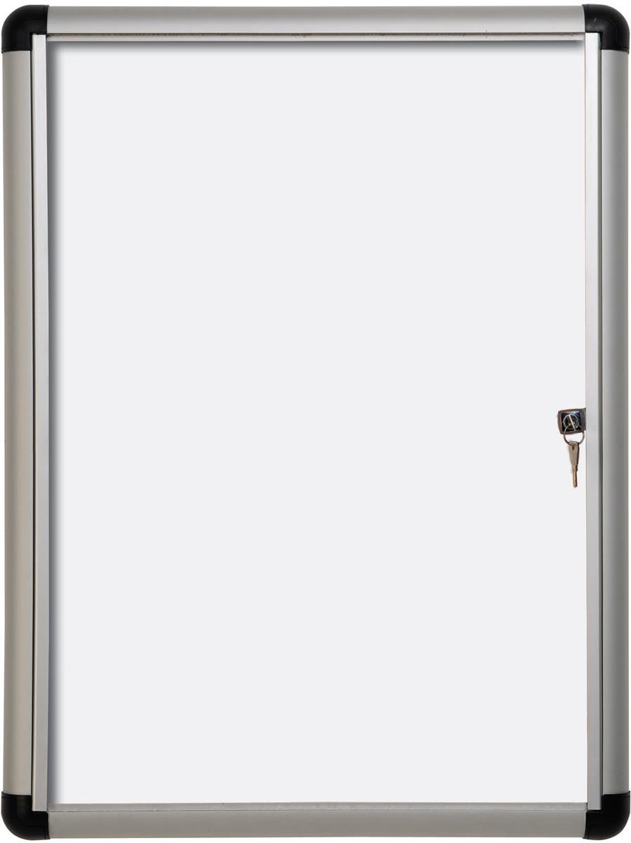 Pergamy Excellence magnetische glazen vitrine Extra Slim ft 6 x A4