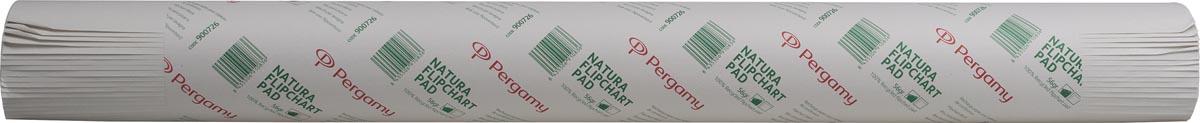 Pergamy flipchartblok Natura, gerecylceerd, ft 65 x 98, effen, rol met 50 blad