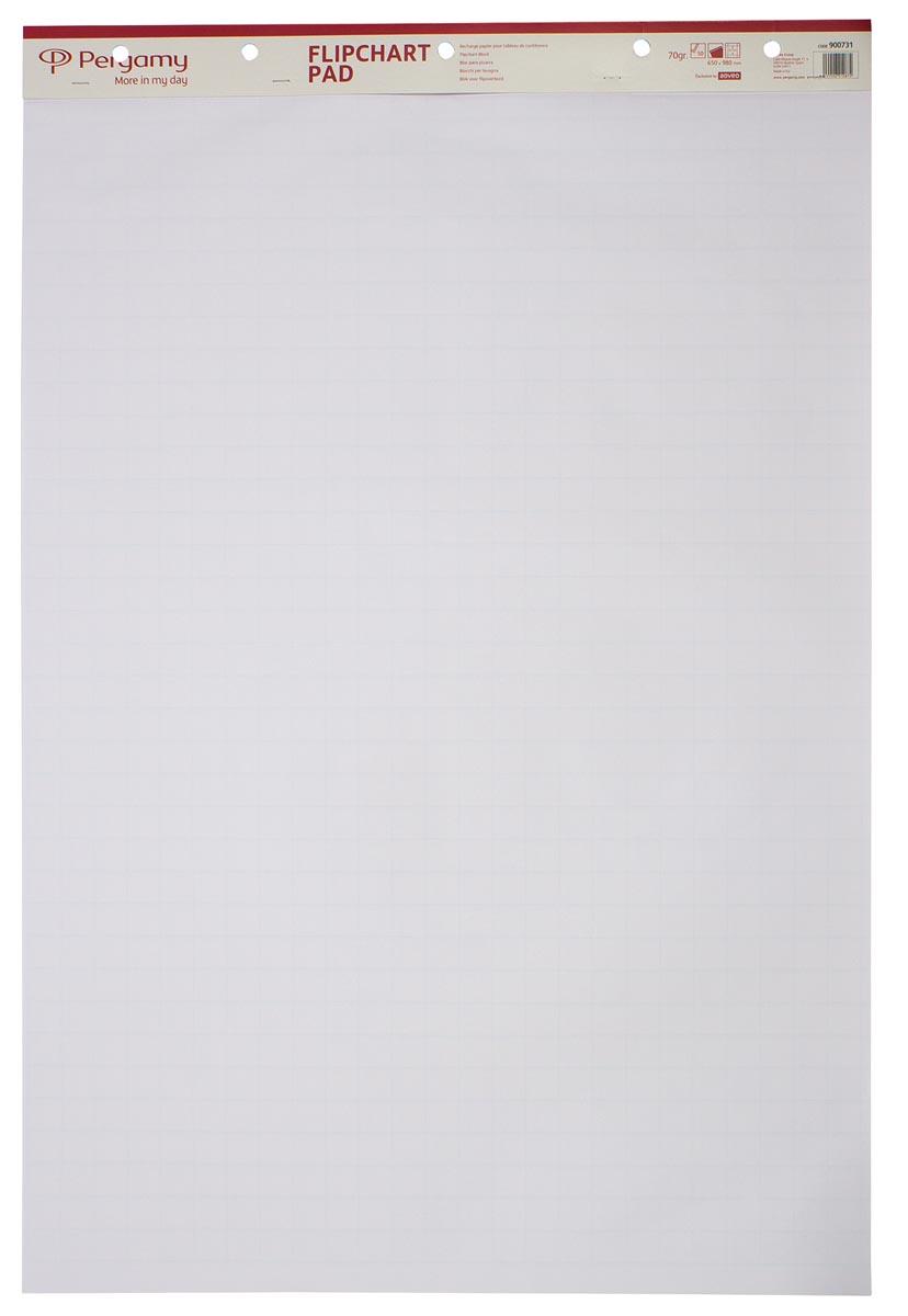Pergamy flipchartblok, ft 65 x 98 cm, geruit, pak met 50 blad