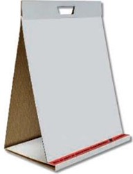 Pergamy zelfklevend table top flipchartblok, ft 58,5 x 50 cm, blanco, pak met 20 blad