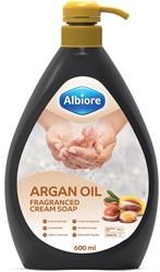 Albiore hand- en lichaamszeep met arganolie, flacon van 600 ml