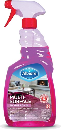 Albiore allesreiniger Professional, met alcohol, sprayflacon van 750 ml