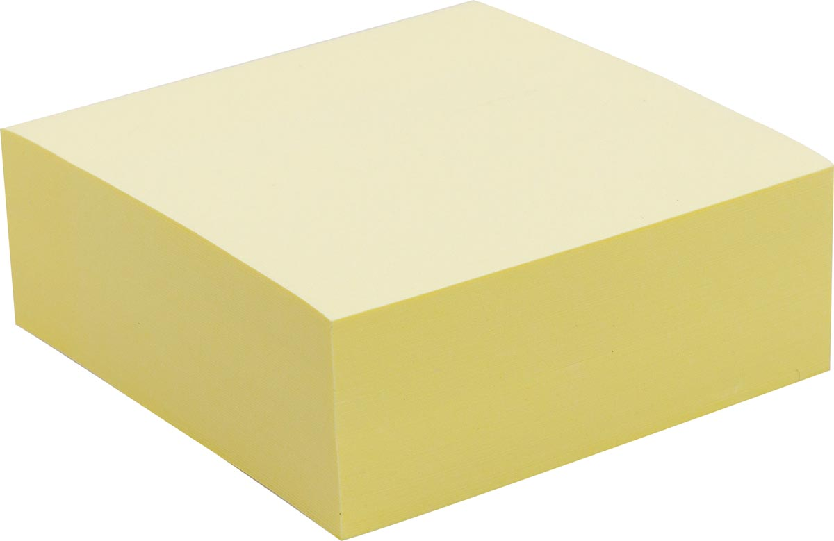 Pergamy jumbo notes, ft 76 x 76 mm, 320 vel, geel