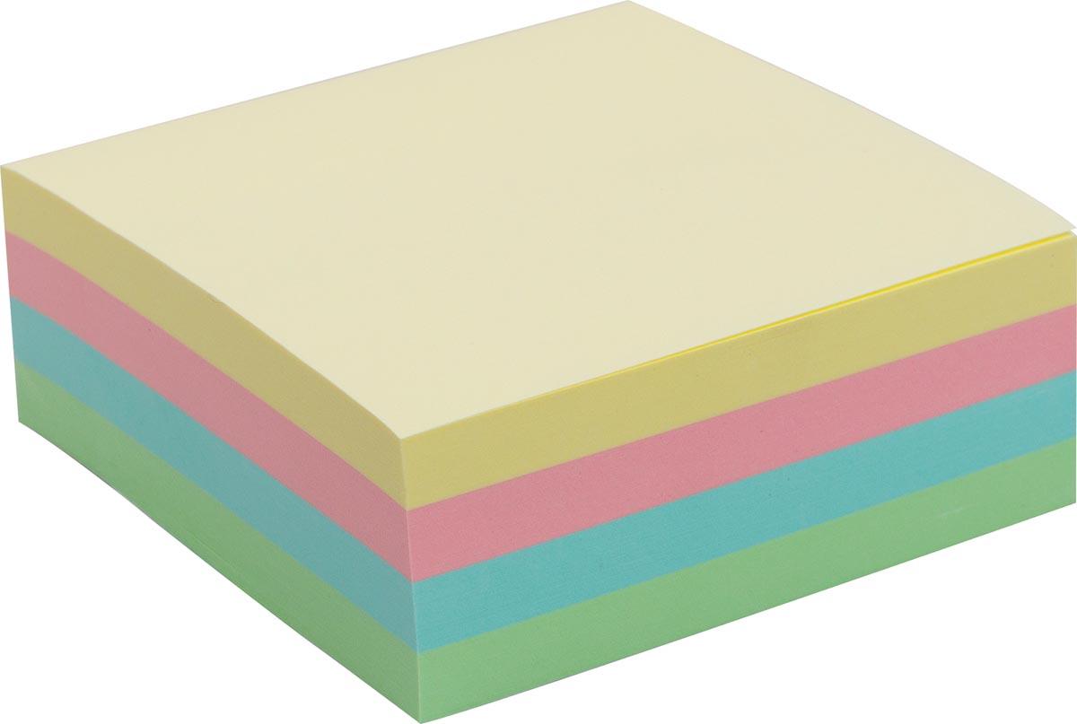 Pergamy jumbo notes, ft 76 x 76 mm, 320 vel, geassorteerde pastelkleuren