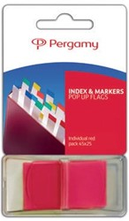 Pergamy index ft 43 x 25 mm, rood