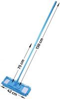 Albiore vlakmop met telescopische steel, voor droog en nat gebruik-2