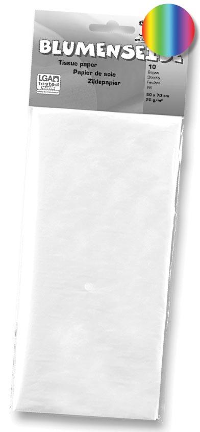 Folia zijdepapier regenboogkleurig