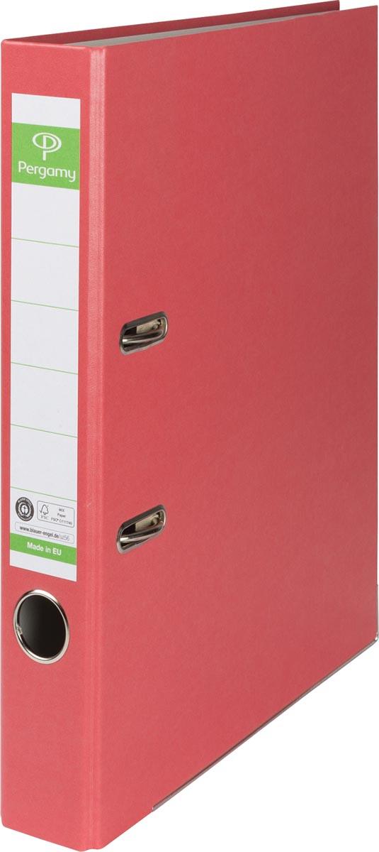 Pergamy ordner, voor ft A4, uit Recycolor papier, rug van 5 cm, rood