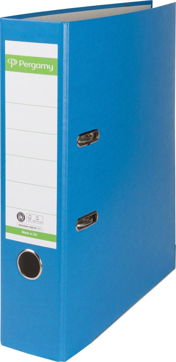 Pergamy ordner, voor ft A4, uit Recycolor papier, rug van 8 cm, blauw