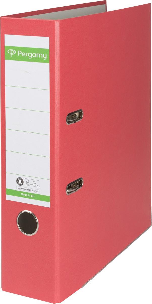 Pergamy ordner, voor ft A4, uit Recycolor papier, rug van 8 cm, rood