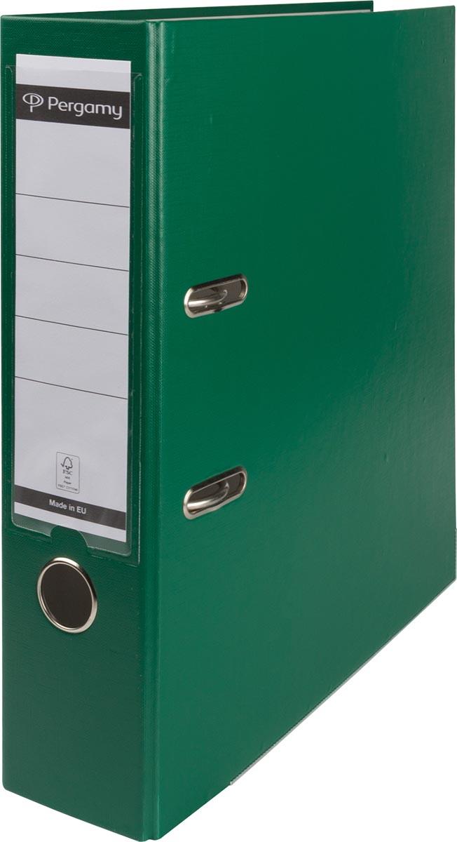 Pergamy ordner, voor ft A4, uit PP en papier, rug van 8 cm, groen