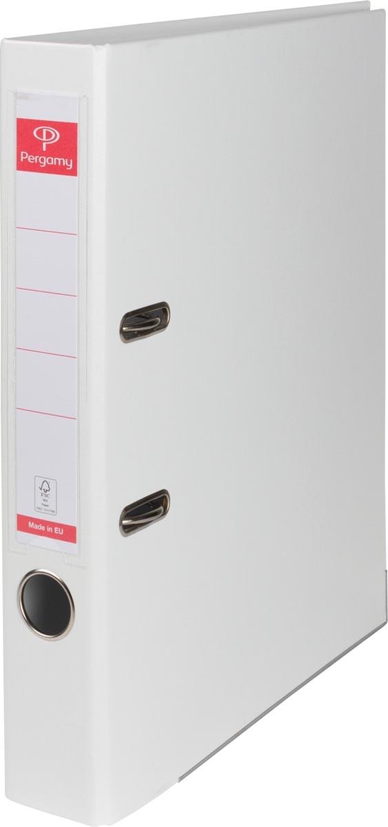 Pergamy ordner, voor ft A4, volledig uit PP, rug van 5 cm, wit