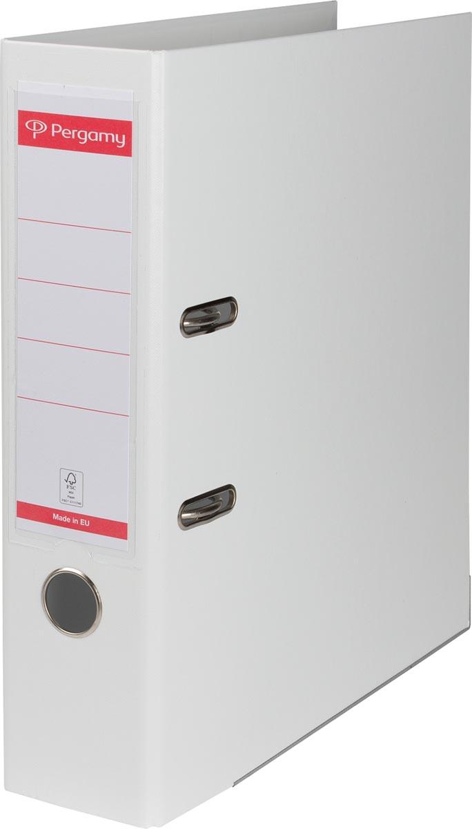 Pergamy ordner, voor ft A4, volledig uit PP, rug van 8 cm, wit