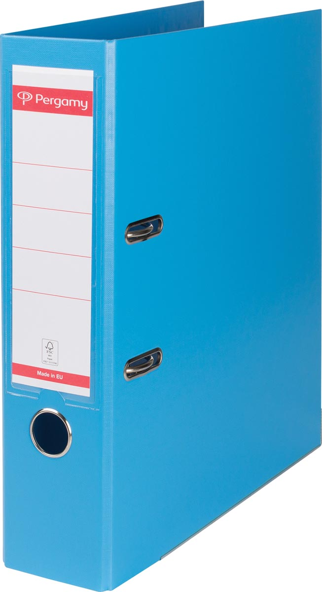 Pergamy ordner, voor ft A4, volledig uit PP, rug van 8 cm, blauw