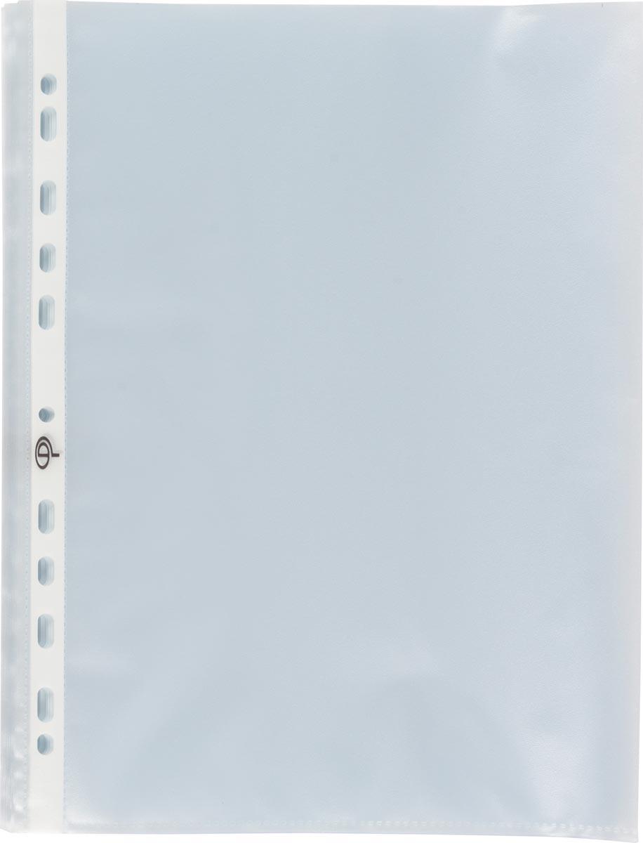 Pergamy geperforeerde showtas, ft A4, 11-gaatsperforatie, gekorrelde PP van 80 micron, doos van 100