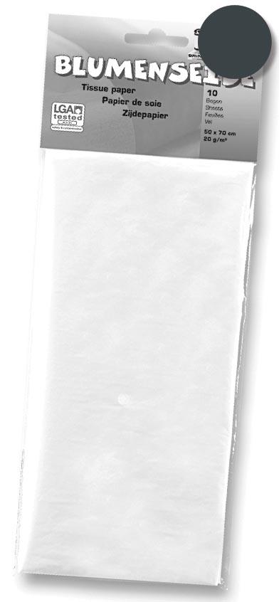 Folia zijdepapier zwart