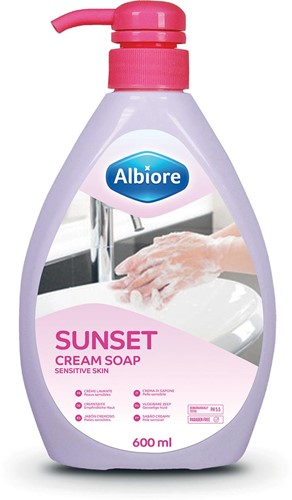 Albiore hand-en lichaamszeep Sunset, flacon van 600 ml
