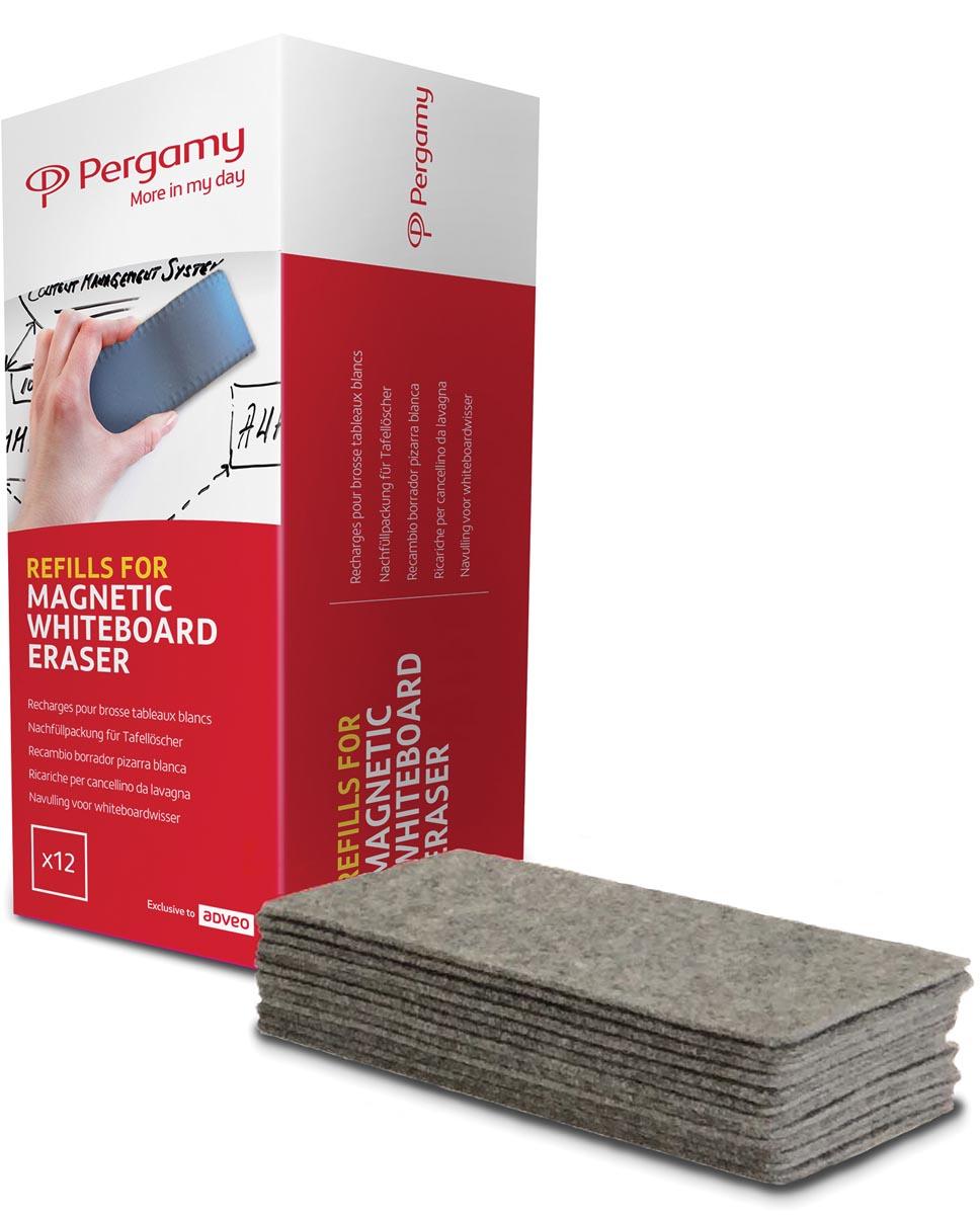 Pergamy navullingen voor magnetische bordenwisser, pak van 10 stuks