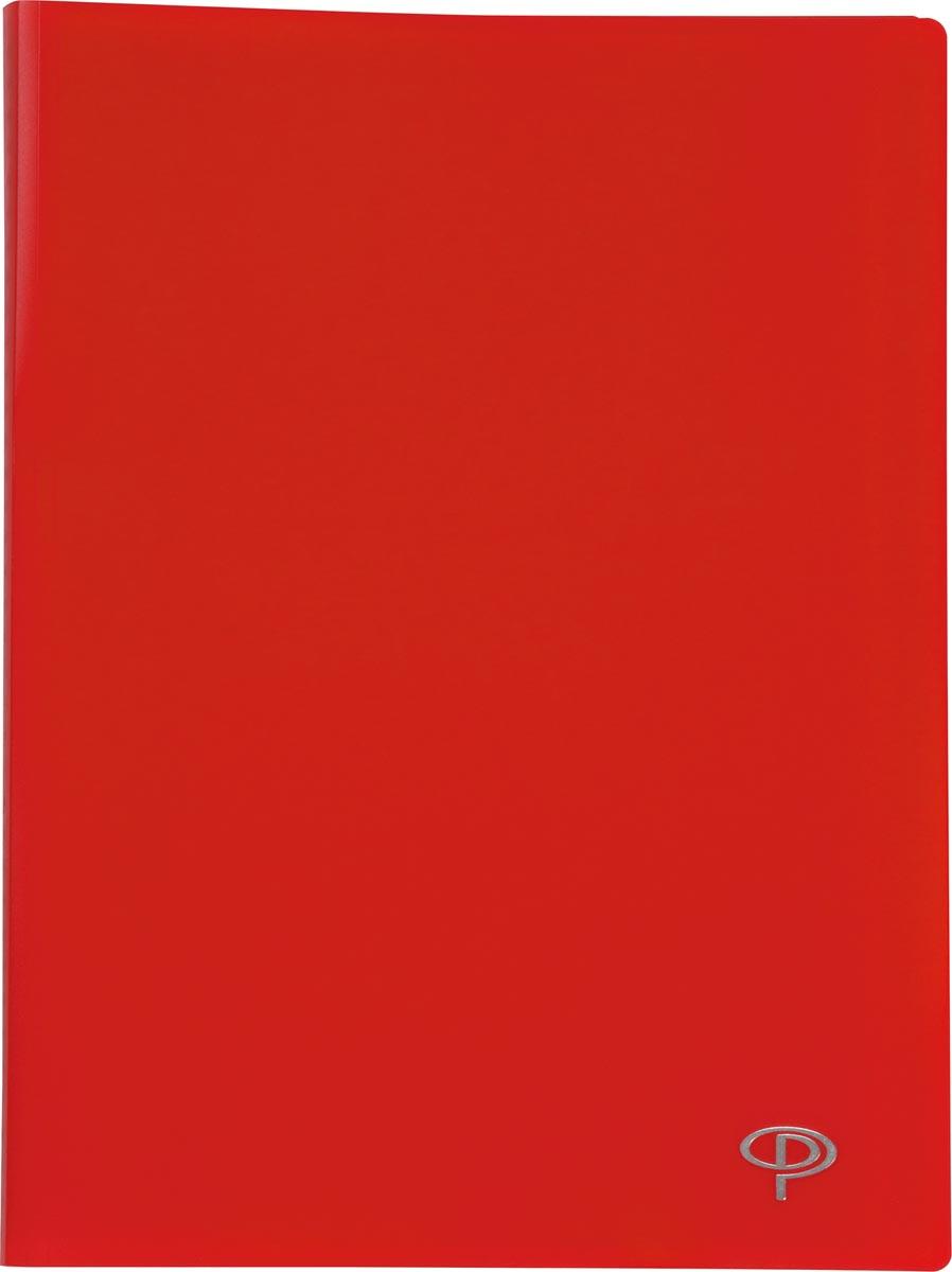 Pergamy showalbum, voor ft A4, met 20 transparante tassen, rood