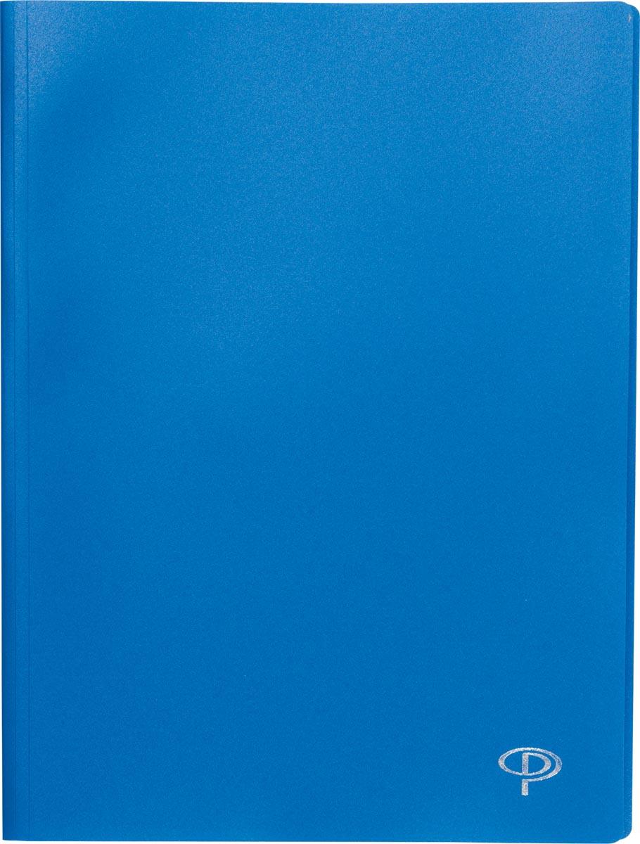 Pergamy showalbum, voor ft A4, met 60 transparante tassen, blauw